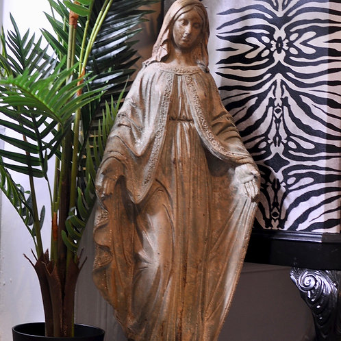 Large Stone Effect Madonna Figure