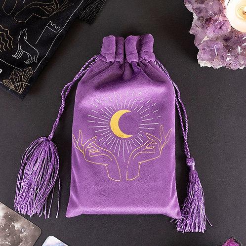 Purple Velvet Tarot Card Pouch