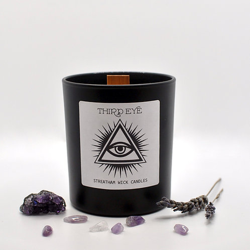 Third Eye Chakra Scented Wooden Wick Soy Candle