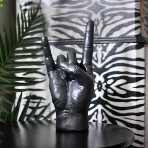 Black Rock On Hand Ornament Vase