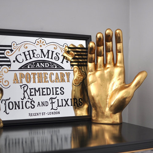 Giant Gold Hand Sculpture