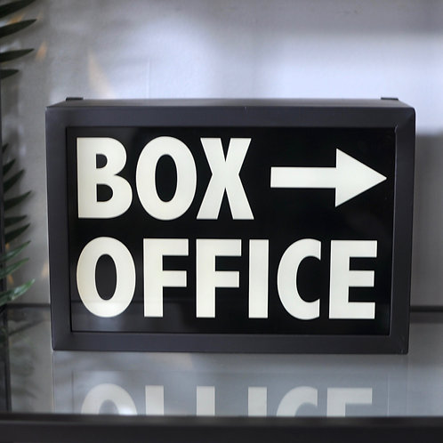 Retro Box Office Light Box Sign