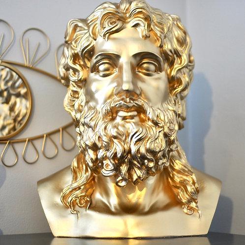 Fab Gold Stone Effect Zeus Bust