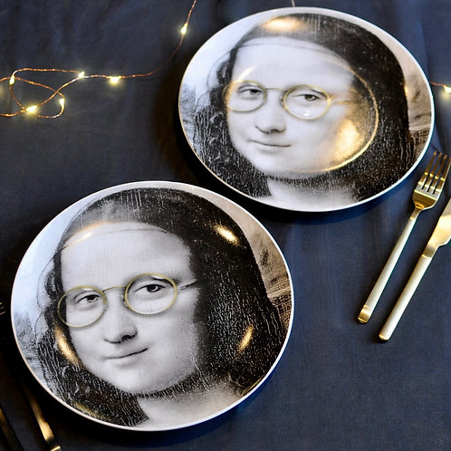 Mona Lisa Glasses Face Plate