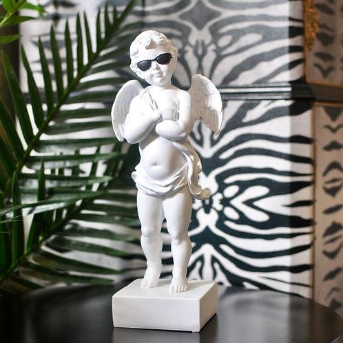 White 'Too Cool' Cherub Figure