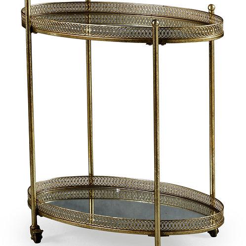 Antique Gold Bar Cart