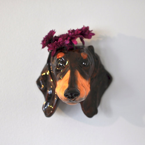 Dachshund Wall Mounted Vase, Plant Holder