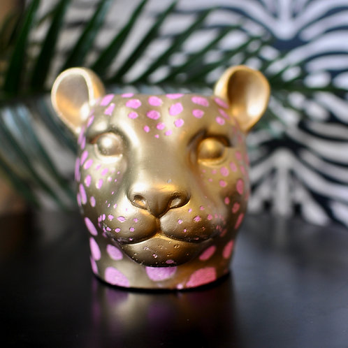 Pink and Gold Leopard Pot Cover