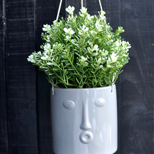 Hanging Ceramic Face Pot Cover
