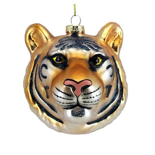 Tiger Head Bauble Tree Decoration