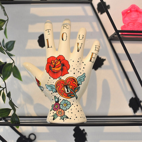 Ceramic Tattoo Palmistry Hand Ornament