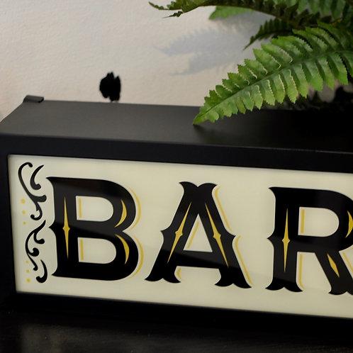 Quirky Retro Bar Light Box Sign