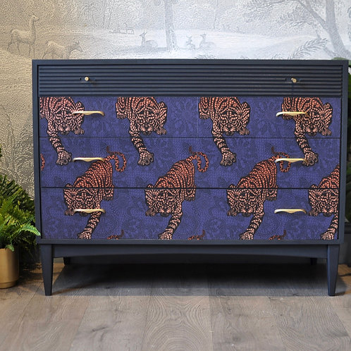 Upcycled Vintage Chest of Drawers Tyger Tyger