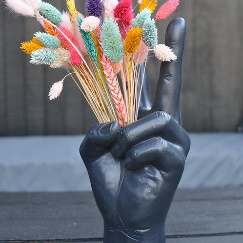 Black Peace Hand Ornament Vase