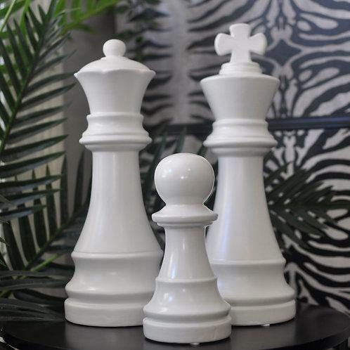 Matt White Chess Piece Ornament