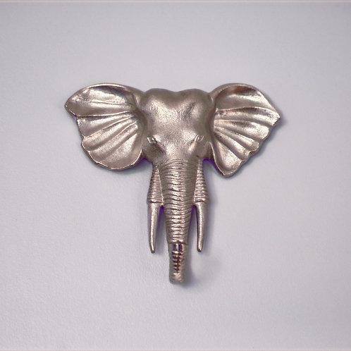 Large Silver Elephant Wall Hook