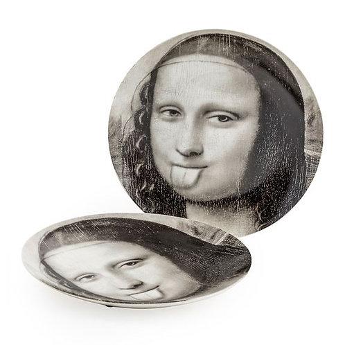 Set of 2 Cheeky Mona Face Plates