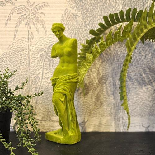 Green Flocked Classical Venus De Milo Figure