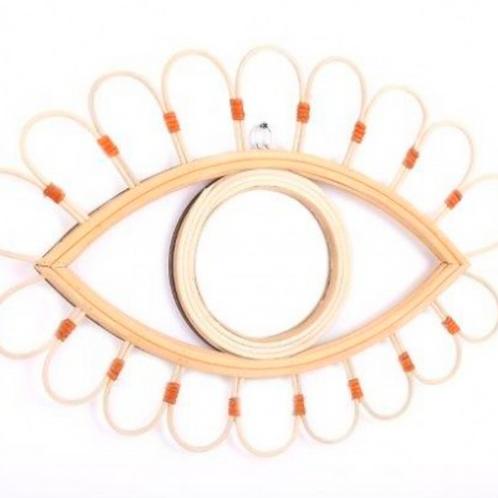 Kasbah Rattan Eye Mirror