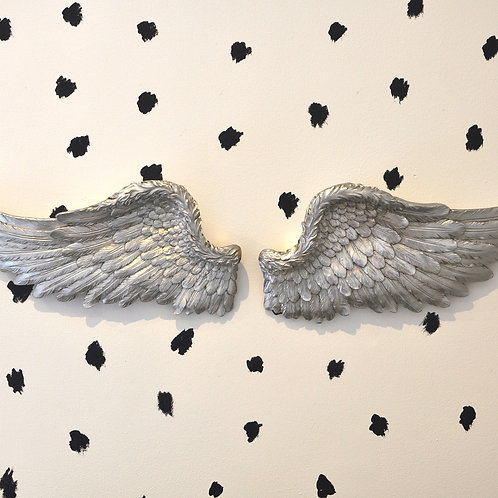 Pair of Gorgeous Antique Silver Angel Wings