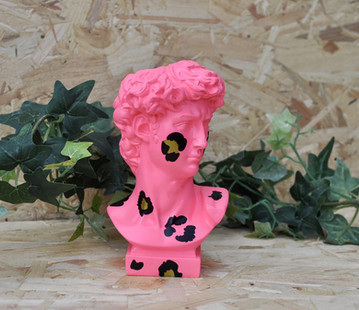 Neon Pink Leopard David Vase