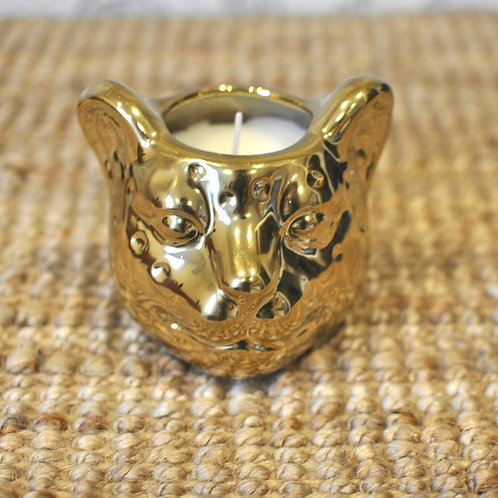 Leopard Head Pomegranate Scented Candle Pot