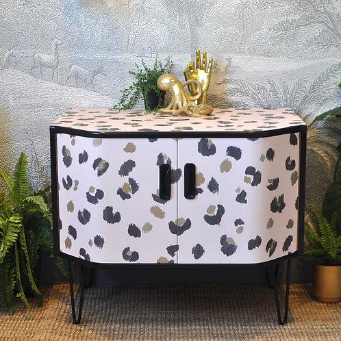 Upcycled G Plan Teak Cabinet Leopard Print