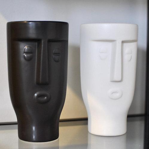 Monochrome Batik Face Vase