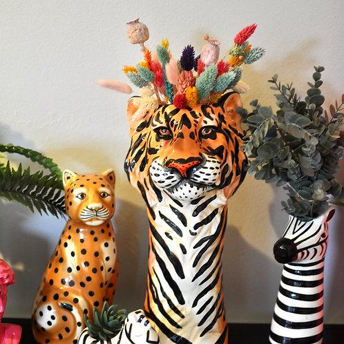 Quirky Ceramic Tiger Vase