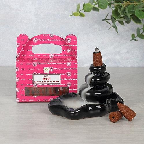 Box of Satya Rose Backflow Dhoop Cones