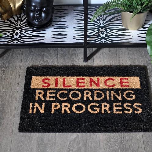 Silence Recording in Progress Doormat