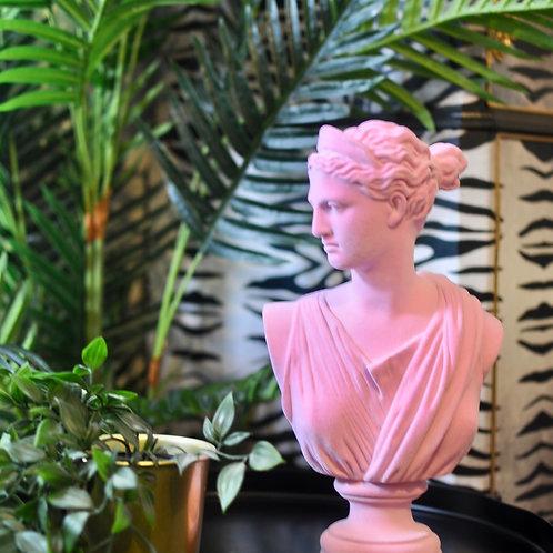 Pink Flock Classic Artemis Bust