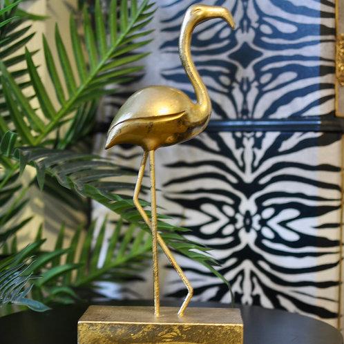 Large Gold Flamingo Ornament