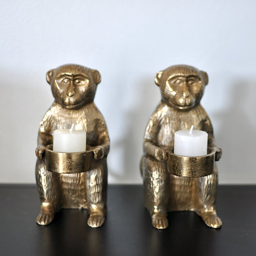 Eclectic Monkey Tea Light Candle Holder