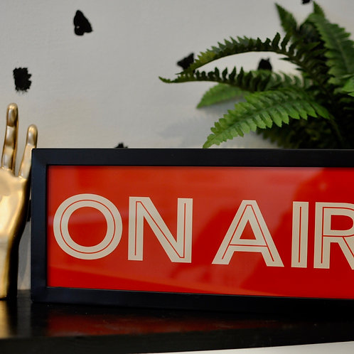 Quirky Retro On Air Light Box Sign