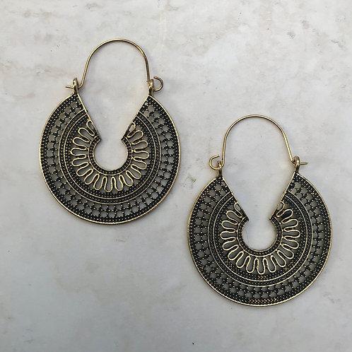 Gold Tone Gypsy Earrings