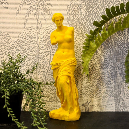 Yellow Flocked Venus De Milo Figure