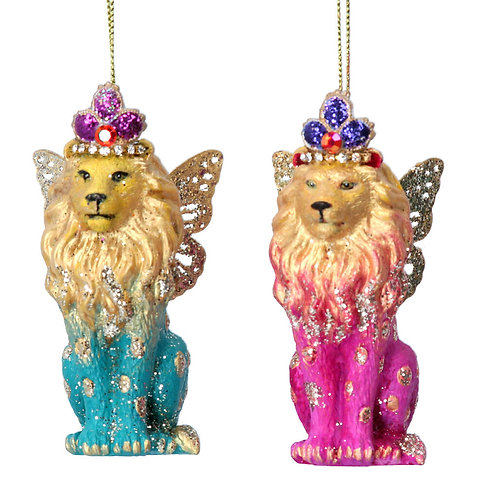 Fantasy Animal Ombree Lion Tree Decorations