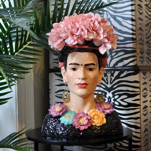 Quirky Frida Kahlo Ceramic Bust Vase