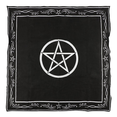 X Large Pentagram Altar Cloth Wall Hanging