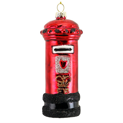 Red London Letter Box Tree Decoration