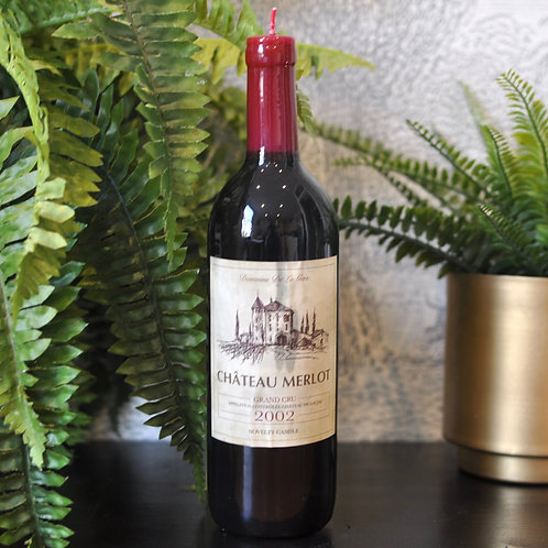 Quirky Vintage Wine Bottle Candle