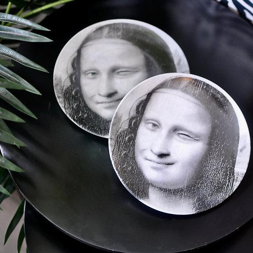 Set of 2 Winking Mona Face Plates