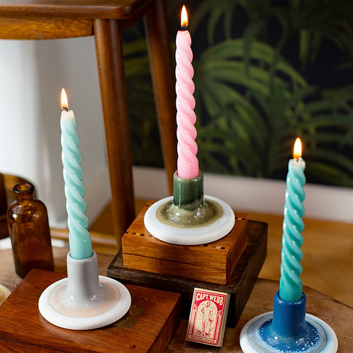 Mojave Glaze Colourful Candle Holders