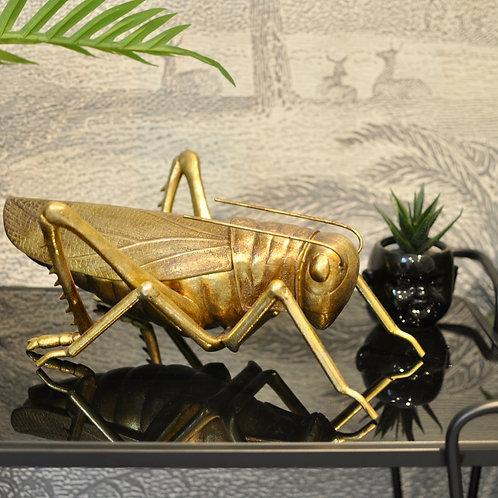 Extra Large Gold Grasshopper Storage Pot