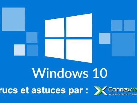 Windows 10 - 5 fonctionnalités intéressantes - Avril 2021