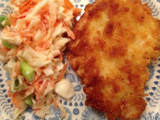 Chicken Schnitzel and Coleslaw