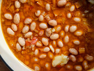 Borlotti bean stew, Zeytinyagli barbunya