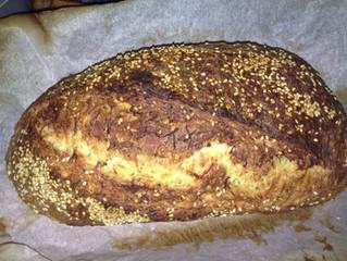 Carrot and sesame sandwich bread recipe