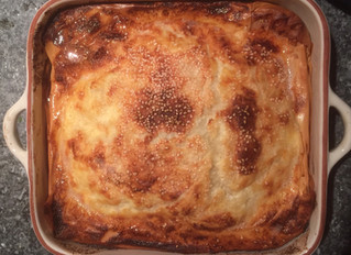 Borek with beef chilli and pine nuts